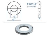 4,3mm Unterlegscheiben DIN125 Form B Stahl verzinkt (100...
