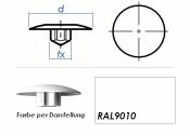 TX25 Abdeckkappe RAL9010 / weiss (10 Stk.)