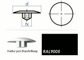 TX25 Abdeckkappe RAL9005 / schwarz  (10 Stk.)