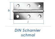 30 x 22mm Scharnier schmal Edelstahl (1 Stk.)