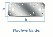 135 x 55 x 2,5mm Flachverbinder verzinkt (1 Stk.)