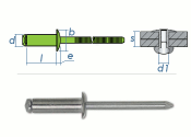 3,2 x 16mm Blindniete Edelstahl A2 DIN7337 (10 Stk.)