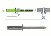4,8 x 20mm Blindniete Edelstahl A2 DIN7337 (10 Stk.)