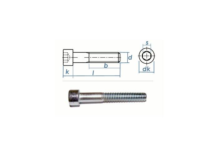 2x Stahl-Inbus-Innen-Sechskant-Zylinderschraube Festigkeit 8.8 Bolzen M8 x 85 mm