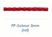 3mm PP- Schnur Rundgeflochten Rot (je 1 lfm)
