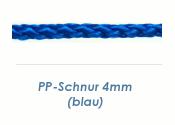 4mm PP- Schnur Rundgeflochten Blau (je 1 lfm)