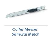 9mm Cutter Messer Samurai Metal  (1 Stk.)