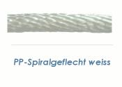6mm PP Seil Spiralgeflochten weiß (je 1 lfm)