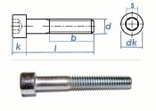M6 x 60mm Zylinderschrauben DIN912 Stahl verzinkt FKL 8.8...