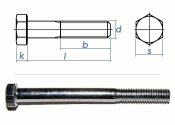 M8 x 80mm Sechskantschrauben DIN931 Teilgewinde Stahl verzinkt FKL8.8 (10 Stk.)