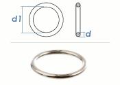 4 x 25mm Ring geschweißt Stahl verzinkt (10 Stk.)
