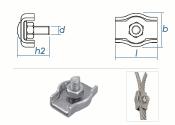 2mm Simplex Seilklemmen Stahl verzinkt (10 Stk.)