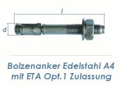 M10 x 92mm Bolzenanker Edelstahl A4 - ETA Opt. 1 (1 Stk.)