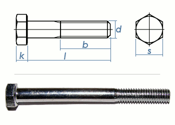 M10 x 120mm Sechskantschrauben DIN931 Teilgewinde Stahl verzinkt FKL8.8 (1 Stk.)