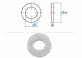 5,3mm Scheiben f. Schrauben m. schweren Spannhülsen DIN7349 Edelstahl A2 (10 Stk.)