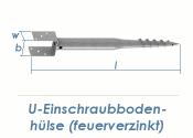 100 x 900mm U-Einschraubbodenhülse feuerverzinkt (1...