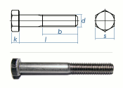 M5 x 50mm Sechskantschrauben DIN931 Teilgewinde Edelstahl...