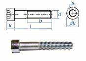 M4 x 30mm Zylinderschrauben DIN912 Stahl verzinkt FKL 8.8...