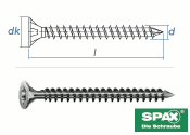 8 x 240mm SPAX Konstruktionsschrauben Vollgewinde TX...