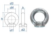 M10 Ringmutter DIN 582 Stahl C15E verzinkt (1 Stk.)