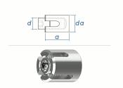 2mm Drahtseil-Kreuzklemme Edelstahl A4 (1 Stk.)