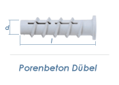 6 x 50mm Porenbeton Dübel (10 Stk.)