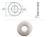 8,4mm Unterlegscheiben DIN134 Edelstahl A2  (10 Stk.)