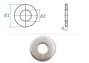 10,5mm Unterlegscheiben DIN134 Edelstahl A2  (10 Stk.)
