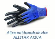 Allzweckhandschuhe Nitril Allstar Aqua schwarz Gr. 9 (L)...