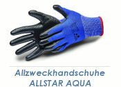 Allzweckhandschuhe Nitril Allstar Aqua schwarz Gr. 10...