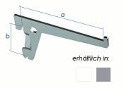 200 x 50mm Einloch-Träger weiss (1 Stk.)