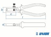 160mm Abisolierzange 478/1BI mit Stellschrauben und Feder gehärtet  (1 Stk.)