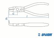 166mm UNIOR Sicherungsringzange 538PLUS/1DP innen, gebogen (1 Stk.)