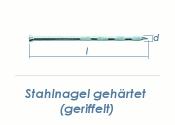 4,5 x 55mm gehärtete Stahlnägel geriffelt verzinkt (10 Stk.)