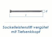 1,4 x 30mm Sockelleistenstifte vergütet Stahl blank (100 Stk.)
