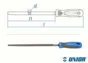 250mm UNIOR Rundfeile Schlicht (Fein) mit 2-K Griff (1 Stk.)