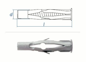 6 x 40mm Multidübel (10 Stk.)