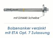 M8 x 75mm Bolzenanker verzinkt - ETA Opt. 7 (1 Stk.)