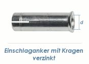 M8 Einschlaganker mit Kragen verzinkt (10 Stk.)