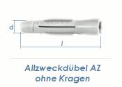 8 x 50mm Allzweckdübel ohne Kragen (10 Stk.)