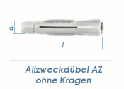10 x 60mm Allzweckdübel ohne Kragen (10 Stk.)