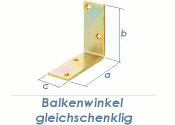 100 x 100 x 40mm Balkenwinkel gelb verzinkt (1 Stk.)