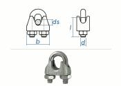10mm Drahtseilklemmen Stahl verzinkt (1 Stk.)