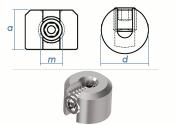 2mm Drahtseilklemmring großer AD 1-Teilig Edelstahl A4 (1 Stk.)