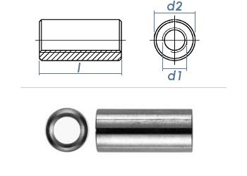 M5 x 20mm Gewindemuffe rund Stahl verzinkt (10 Stk.)