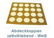 13mm Abdeckkappe selbstklebend weiß (1Pkg zu 20Stk.)