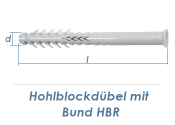10 x 135mm Lochsteindübel extralang mit Bund (1 Stk.)