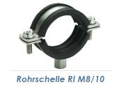 """83-93mm (3"""") Rohrschellen M8/M10  (1 Stk.)"""