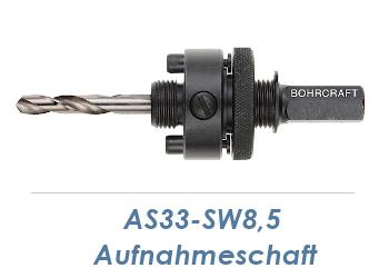 AS33-SW8,5 Aufnahmeschaft für Bi-Metall Lochsäge 32-210mm inkl. Zentrierbohrer (1 Stk.)