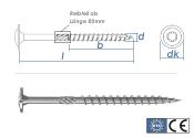 6 x 220mm Holzbauschrauben BMax Tellerkopf TX verzinkt (1...